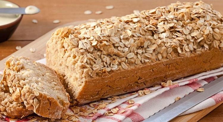 Pão de Aveia sem Glúten e sem Lactose