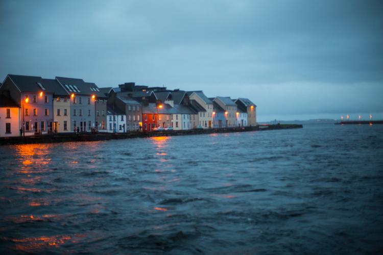 galway bay at dusk