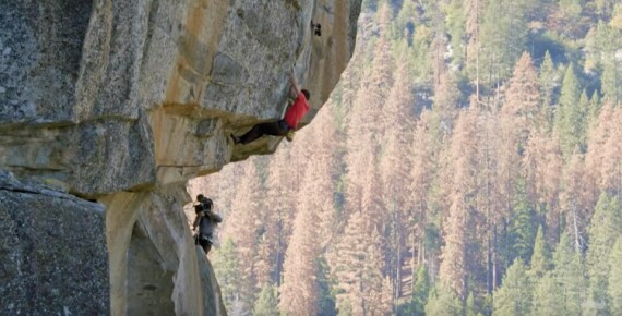 """screen capture from What if He Falls? The Terrifying Reality Behind Filming """"Free Solo"""""""