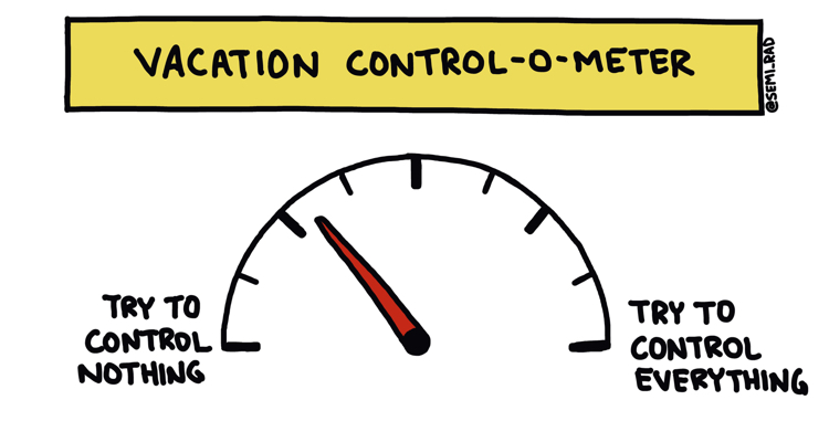 drawing of vacation control-o-meter