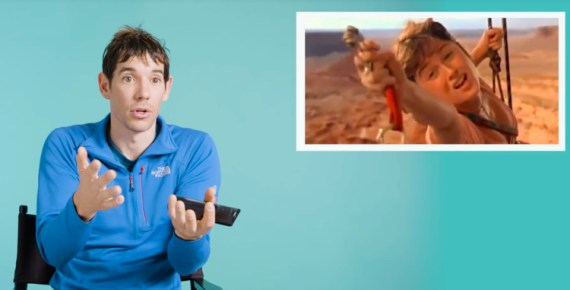 screen capture from Alex Honnold Breaks Down Iconic Rock Climbing Scenes