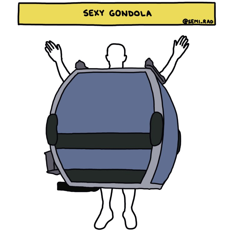 "drawing of ""Sexy Gondola"" costume"