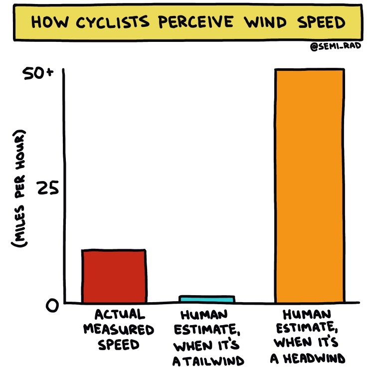 semi-rad chart: how cyclists perceive wind speed