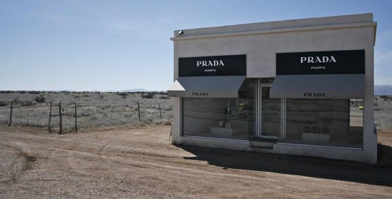 a fake prada store near Marfa, Texas