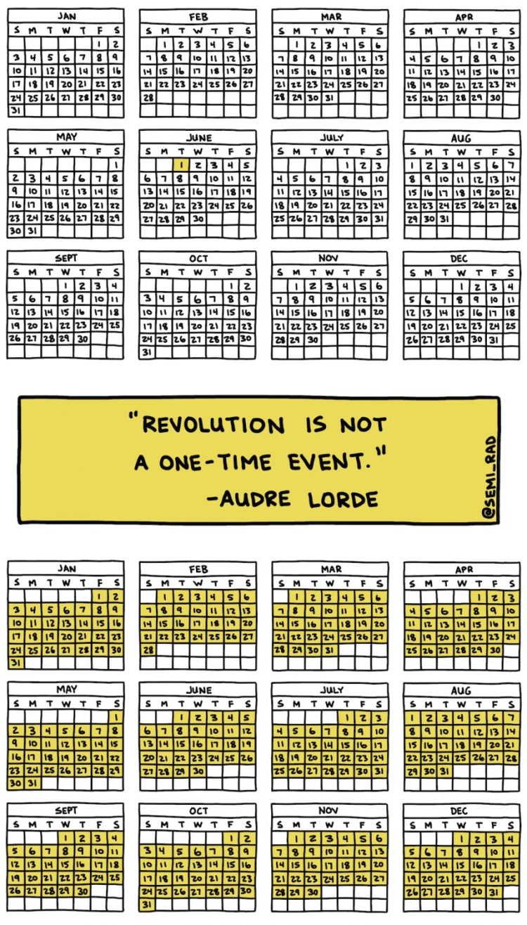 illustration of Audre Lorde quote
