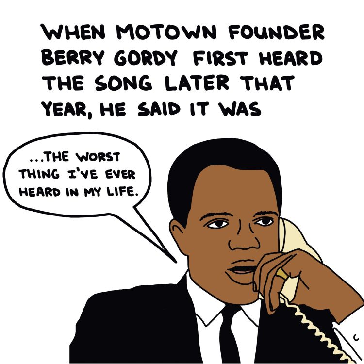 handwritten text and drawing of berry gordy