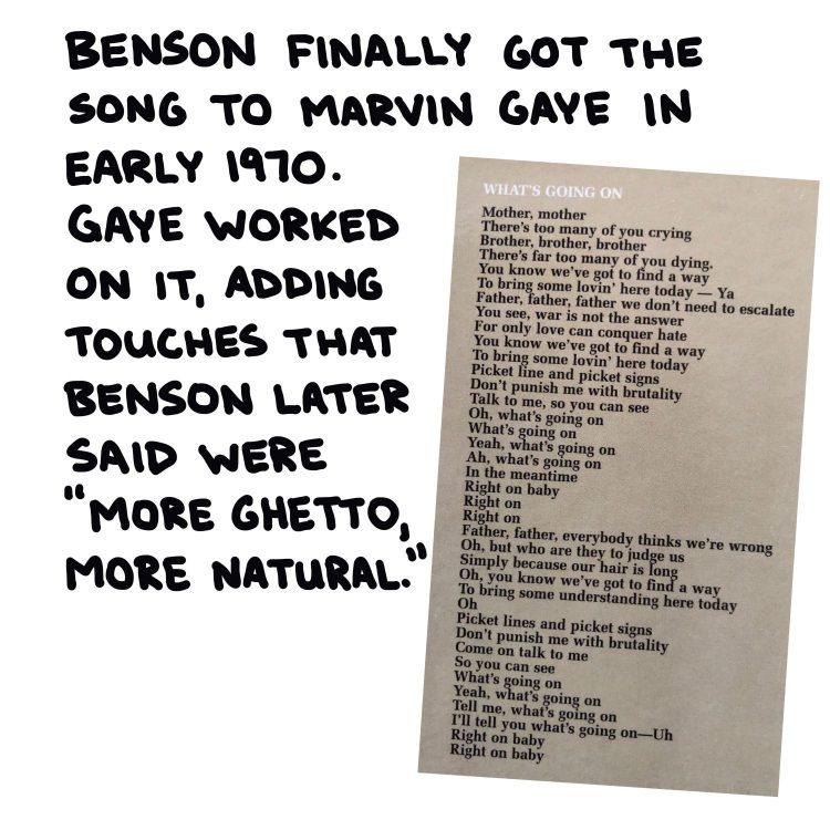 handwritten text and photo of lyrics