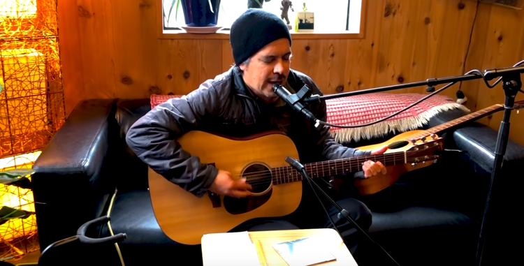 screen capture from M. Ward Tiny Desk Home Concert