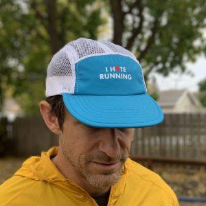 I hate (love) running hat