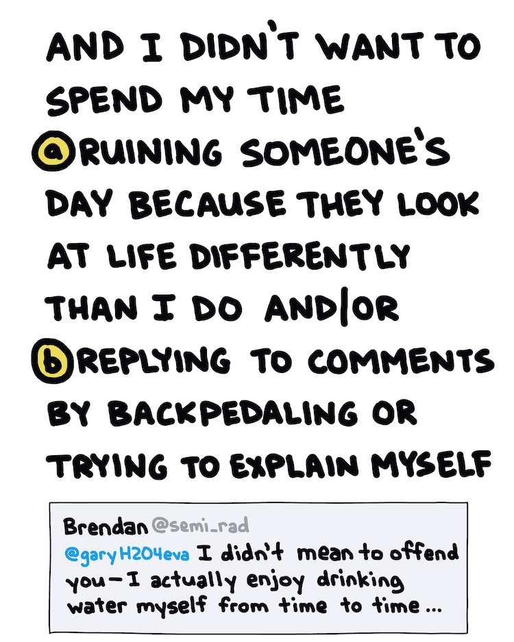 handwritten text and twitter screenshot