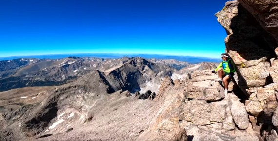 screen capture from A Very LONG Day-The Longs Peak Duathlon with Scott Jurek