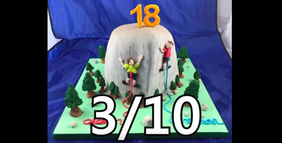 screen capture from Reviewing Climbing Cakes Based on the Climbing