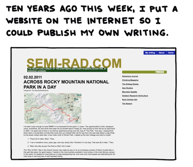 handwritten text and screenshot of Semi-Rad.com website