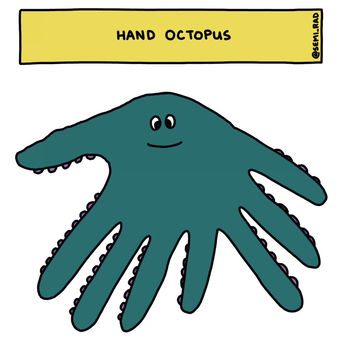 semi-rad hand octopus