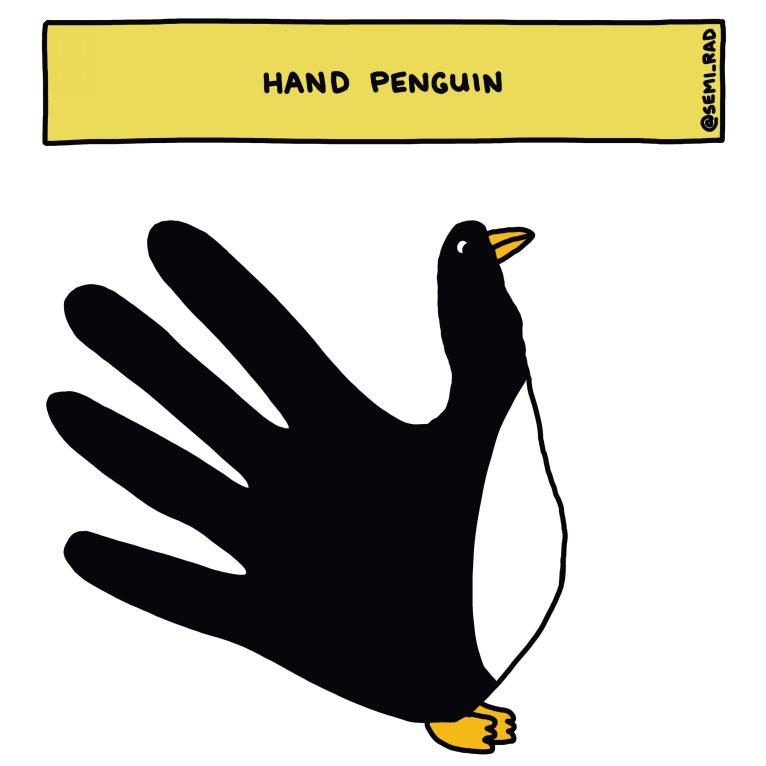 Semi-Rad Hand Penguin
