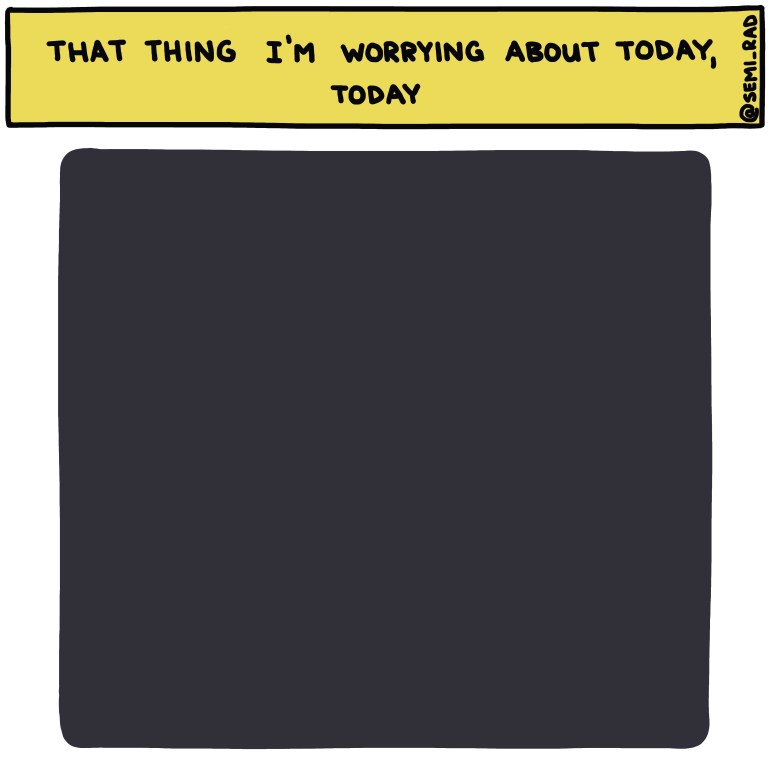 semi-rad chart: that thing you're worried about today, today