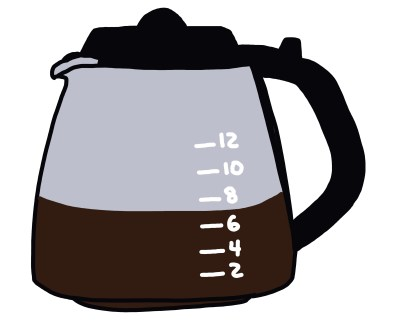 drawing of coffee maker carafe