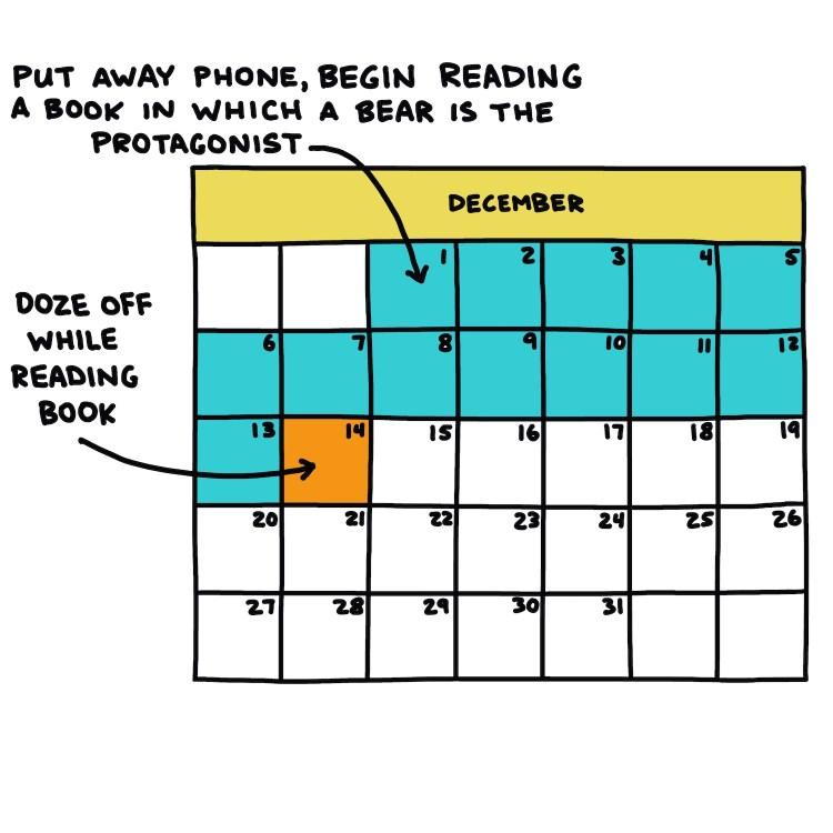 semi-rad calendar: If I were a hibernating bear, December