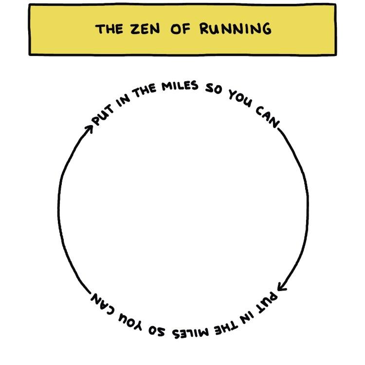 semi-rad chart: the zen of running