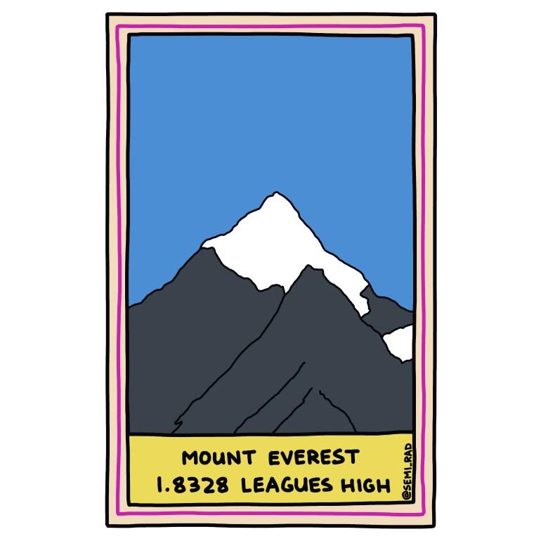 semi-rad illustration mount everest measured in leagues