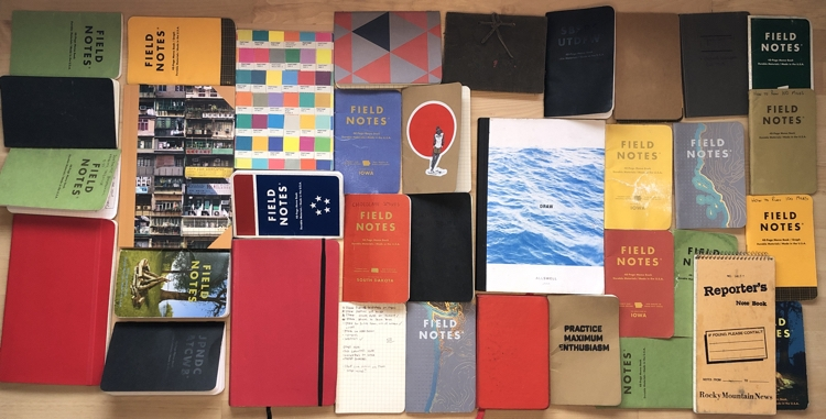 photo of colorful pocket notebooks