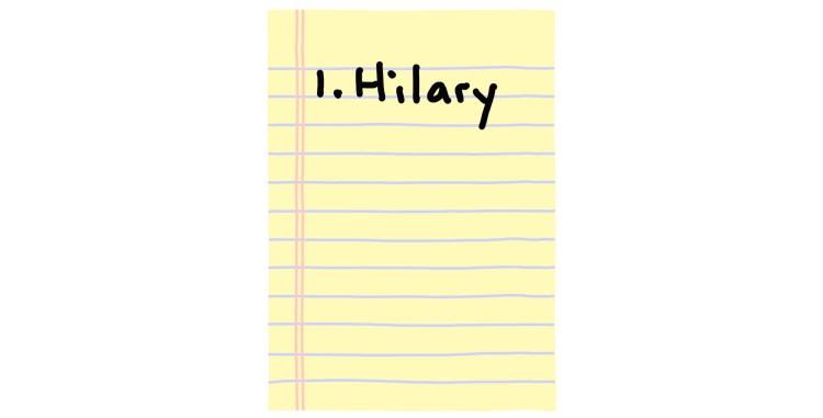 hand-drawn list