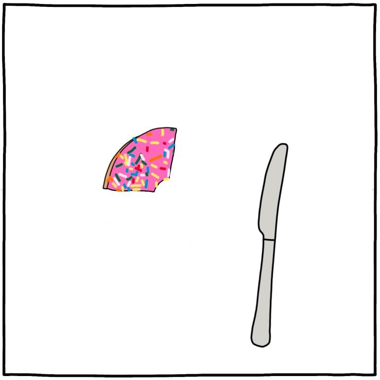 semi-rad illustration - the last doughnut in the office 3