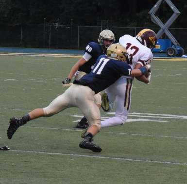 Cole Septer makes a big tackle