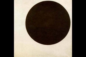 "MIT researchers say the electrical behavior of topological insulators remind them of the 1915 painting by Russian artist Kazimir Malevich, called ""Black Circle."" (Source: MIT)"
