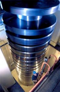 NIST's deadweight machine. (Source: NIST)