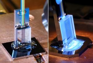 Close-ups of two  photonic thermometers (Source: NIST)