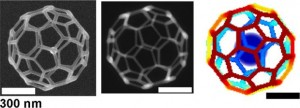 A 32-face 3-D truncated icosahedron mesh was created using a FEBID (Source: Department of Energy's Oak Ridge National Laboratory)