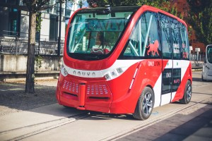 An electric, intelligent and autonomous shuttle (Source: NAVYA)