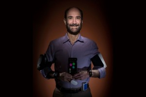 Geneticist Michael Snyder was wearing seven biosensors collecting data about his health when he noticed changes in his heart rate and oxygen level during a flight. When he later developed a fever, he suspected he had been infected with Lyme disease. Subsequent tests confirmed his suspicion. (Source: Stanford University School of Medicine)