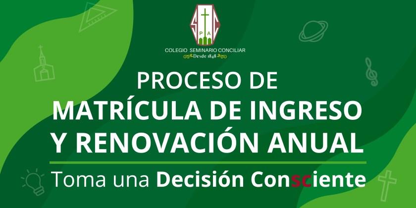 REVISA NUESTRO DOSSIER INFORMATIVO DEL COLEGIO SEMINARIO CONCILIAR