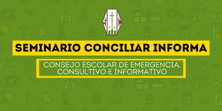 DIRECCIÓN CONVOCA A CONSEJO ESCOLAR DE EMERGENCIA CONSULTIVO E INFORMATIVO