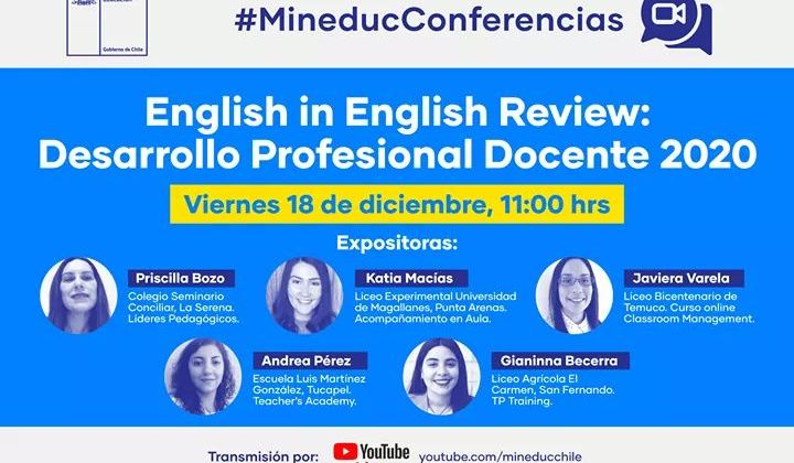 MISS PRISCILLA EXPONE EN CONFERENCIA MINEDUC ENGLISH IN ENGLISH REVIEW