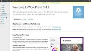 WordPress 3.4 do Dashboard