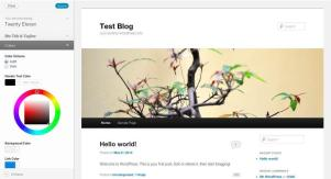 WordPress 3.4 Tema Customizer