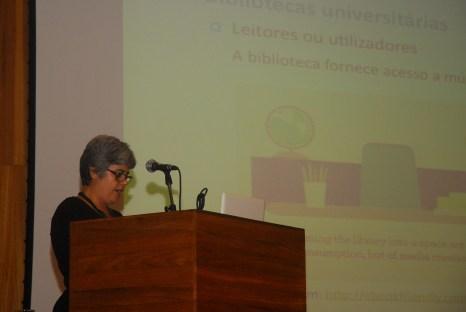 23/10. Dália Guerreiro, Mesa das Bibliotecas. Foto: Jorge Viana.