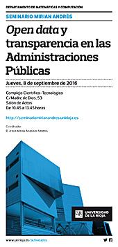 Cartel Jornada Open Data