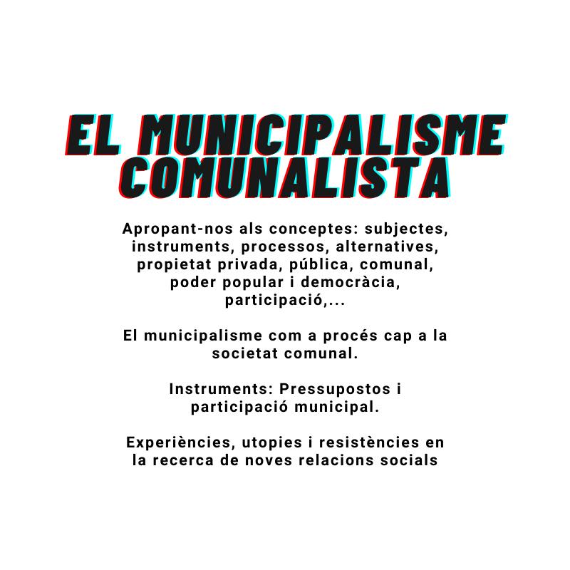 Curs: El municipalisme comunalista