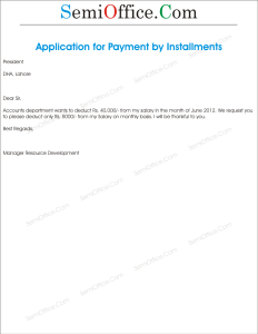 Application for Installments_of Tax Payment from Salary