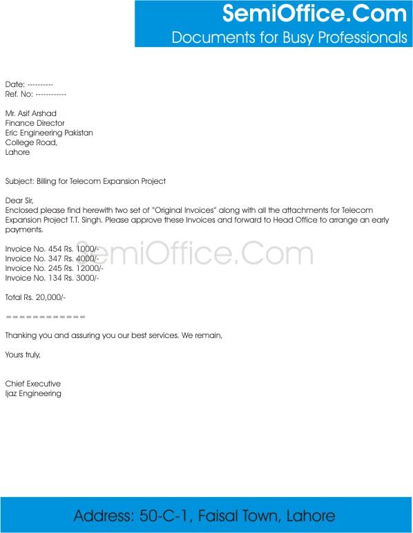 Billing Cover Letter Sample for Project Expansion