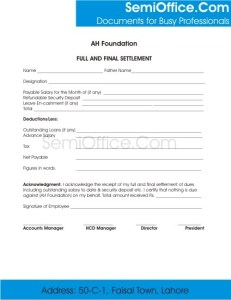 Employee Clearance Form for Resigning and Termination Page 2