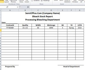 Stock Report Template in Excel Format