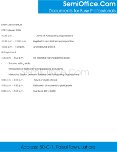 Sample Event Schedule Template Free Download