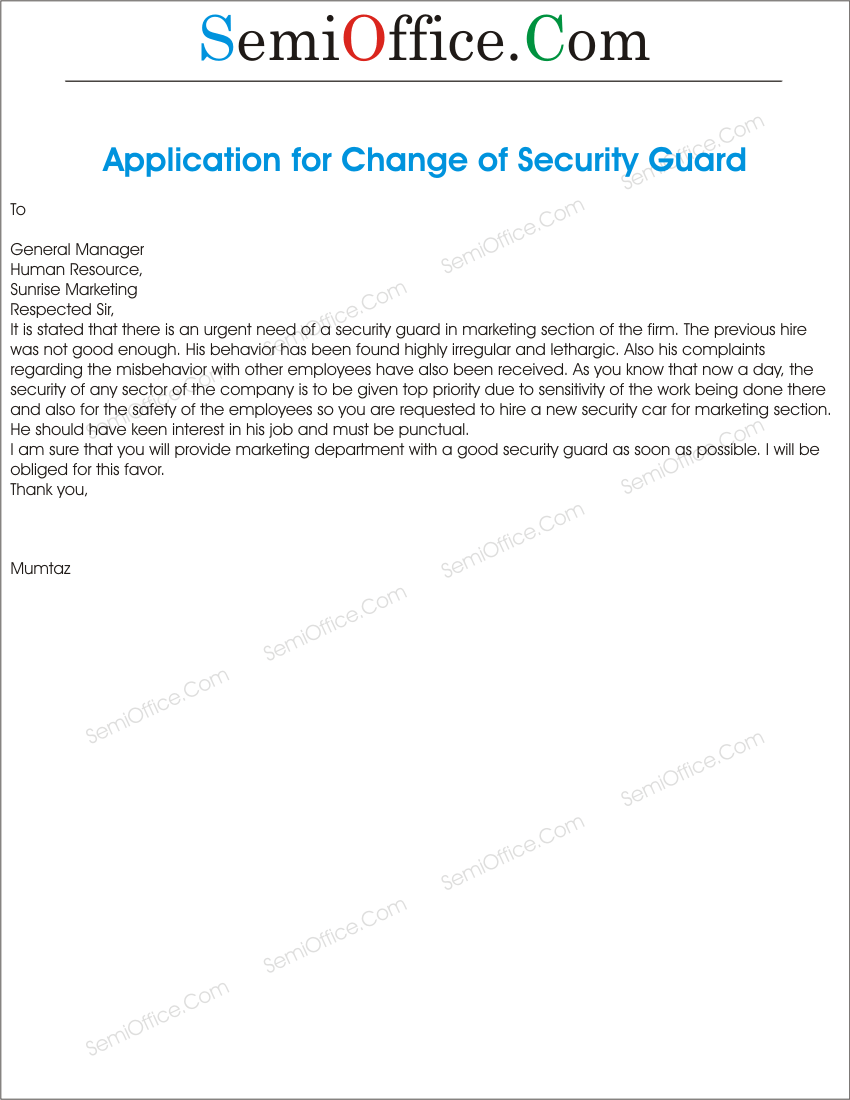 Applicationforreplacementforsecurityguardgssl1 request for replacement of security guard spiritdancerdesigns Choice Image