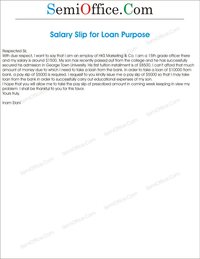 Applicationforsalaryslipforloanpurposegssl1 request of salary slip for bank loan spiritdancerdesigns Image collections