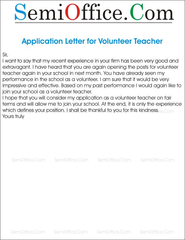 Application For Re Engagement As A Volunteer Teacher